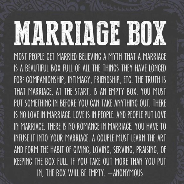 secret to marriage
